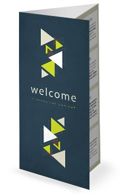 Geometric Spring Welcome Church Trifold Bulletin
