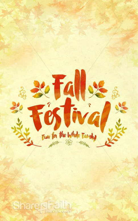Fall Festival Family Fun Religious