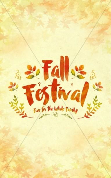 Fall Festival Family Fun Religious Bulletin