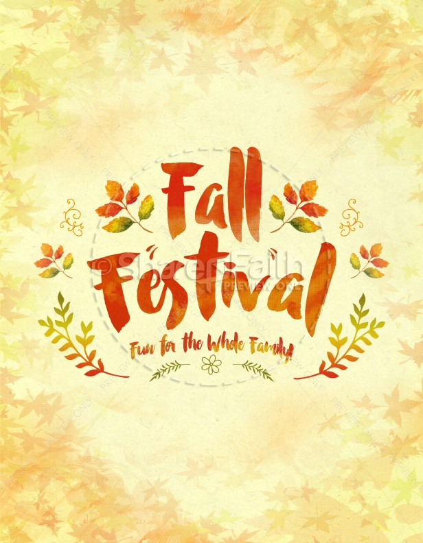 Fall Festival Family Fun Religious Flyer  Fun Poster Templates