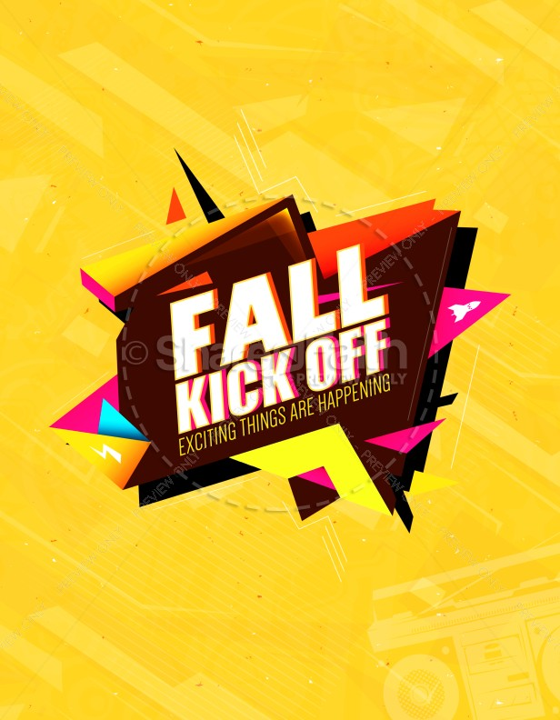 Fall Kickoff Christian Church Flyer