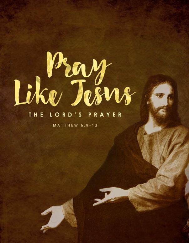 Pray Like Jesus Ministry Flyer