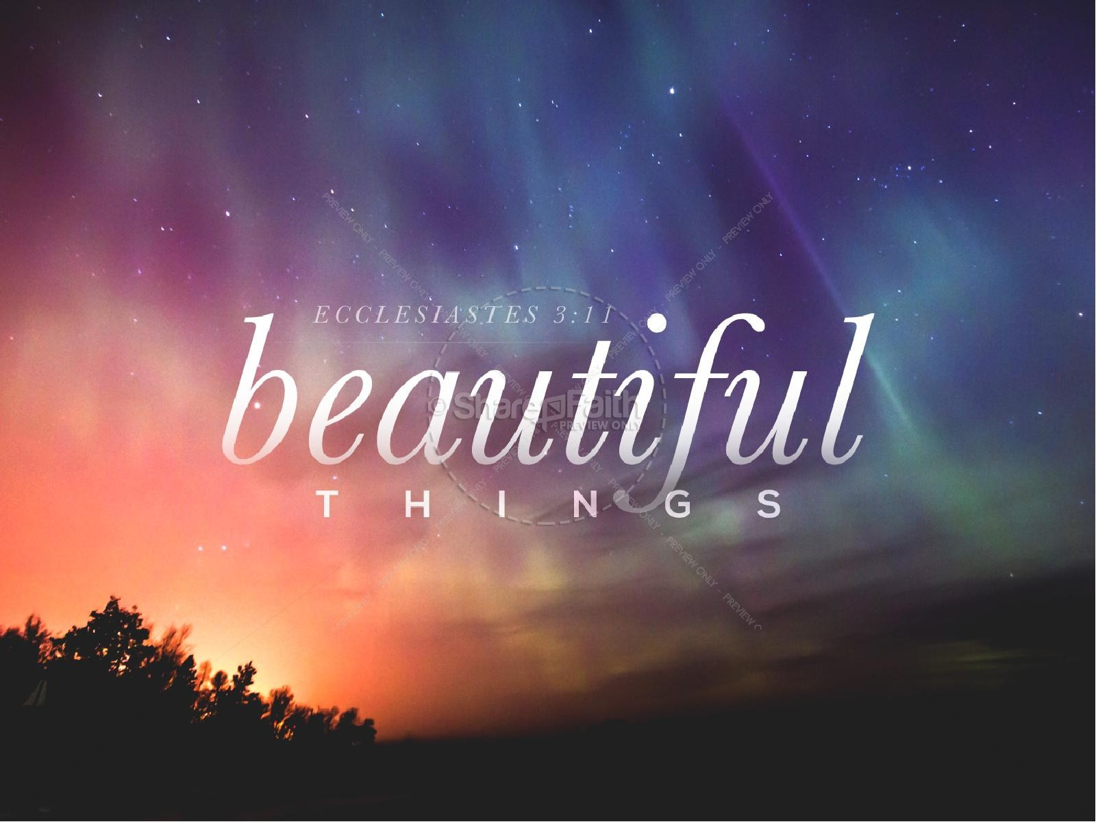 Beautiful Things Christian PowerPoint | slide 1