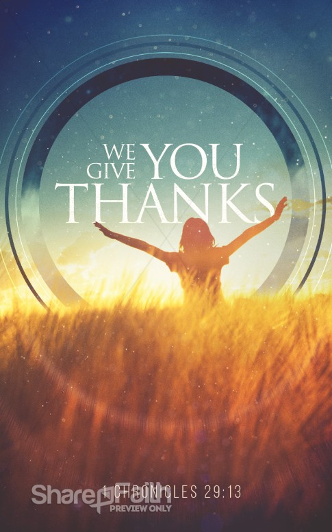 We Give You Thanks Christian Bulletin Thanksgiving Bulletins