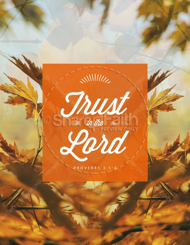 Trust in the Lord Ministry Flyer