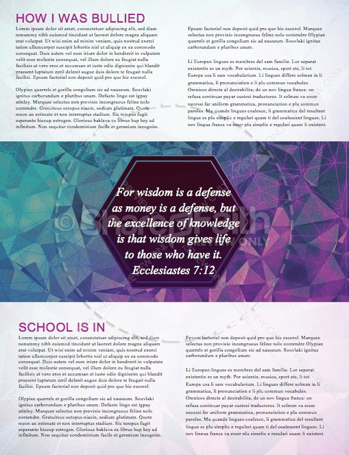 Back to School This is the Year Ministry Newsletter