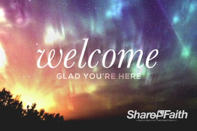 Beautiful Things Christian Welcome Background Video