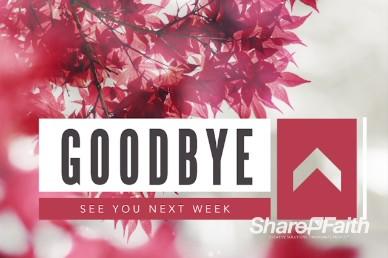 Prayer Service Ministry Goodbye Motion Video