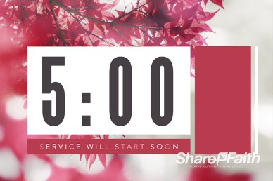 Prayer Service Ministry Five Minute Countdown Timer