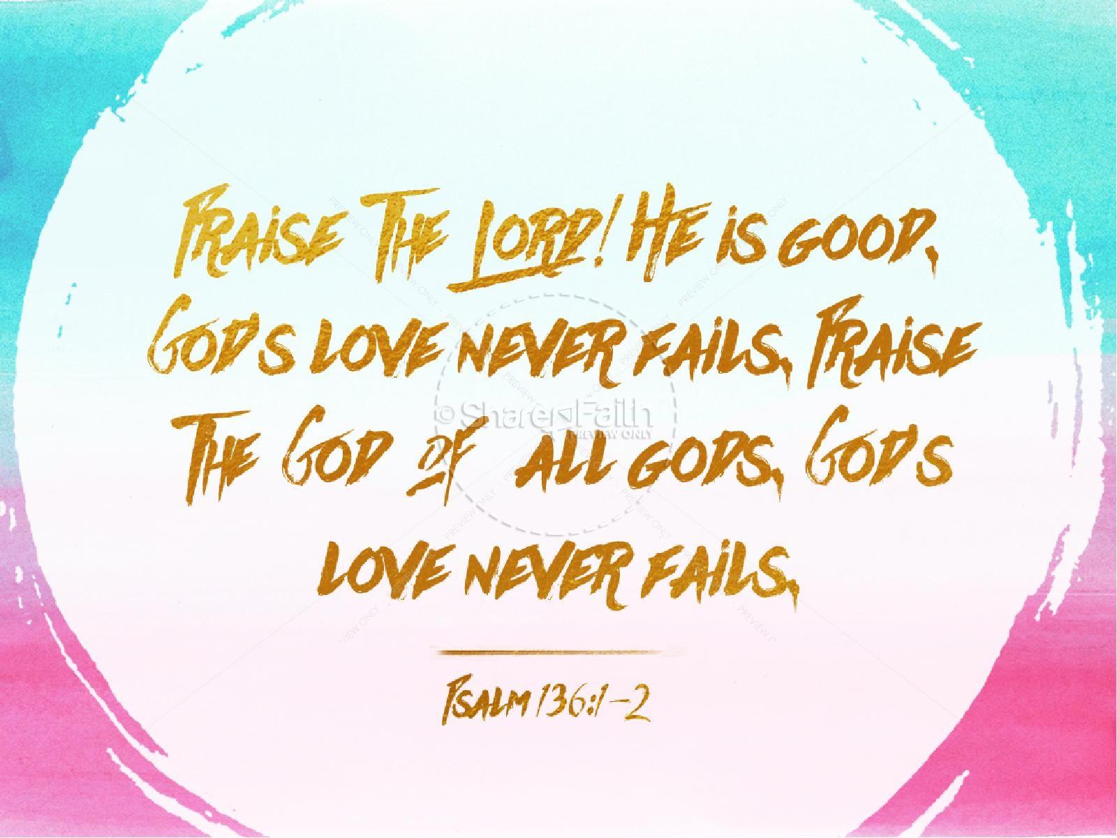 Your Love Never Fails Christian PowerPoint | slide 5