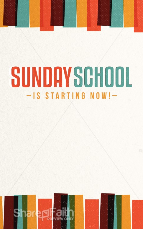 Sunday School is Starting Now Church Bulletin Harvest