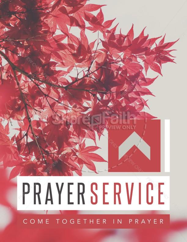 Prayer Service Ministry Flyer | page 1