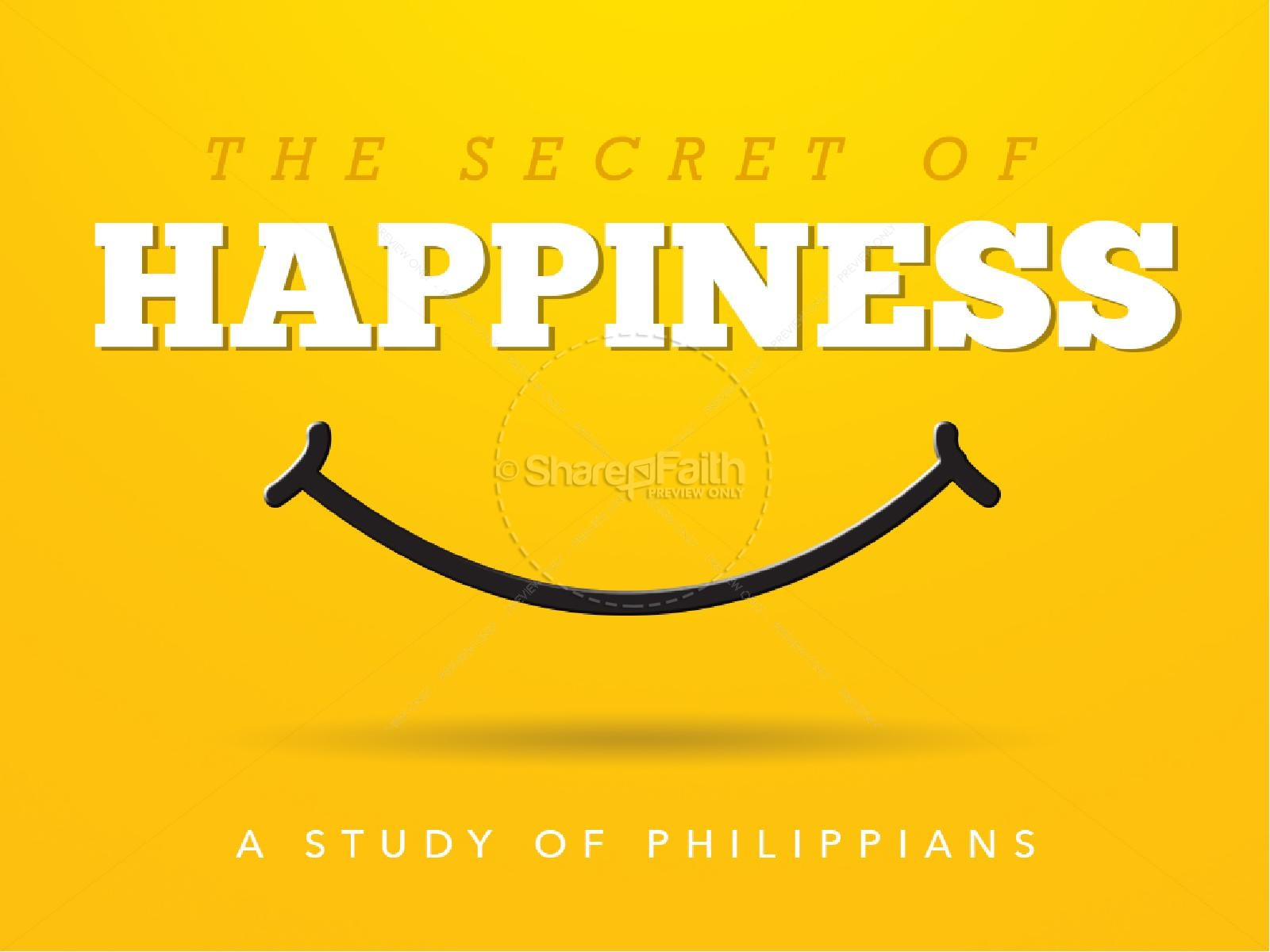 Secret of Happiness Religious PowerPoint