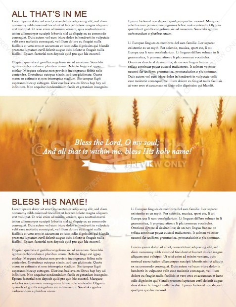 Bless the Lord Christian Newsletter