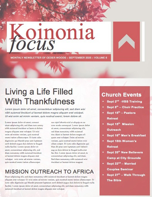 Prayer Service Ministry Newsletter