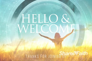 We Give You Thanks Christian Welcome Background Video