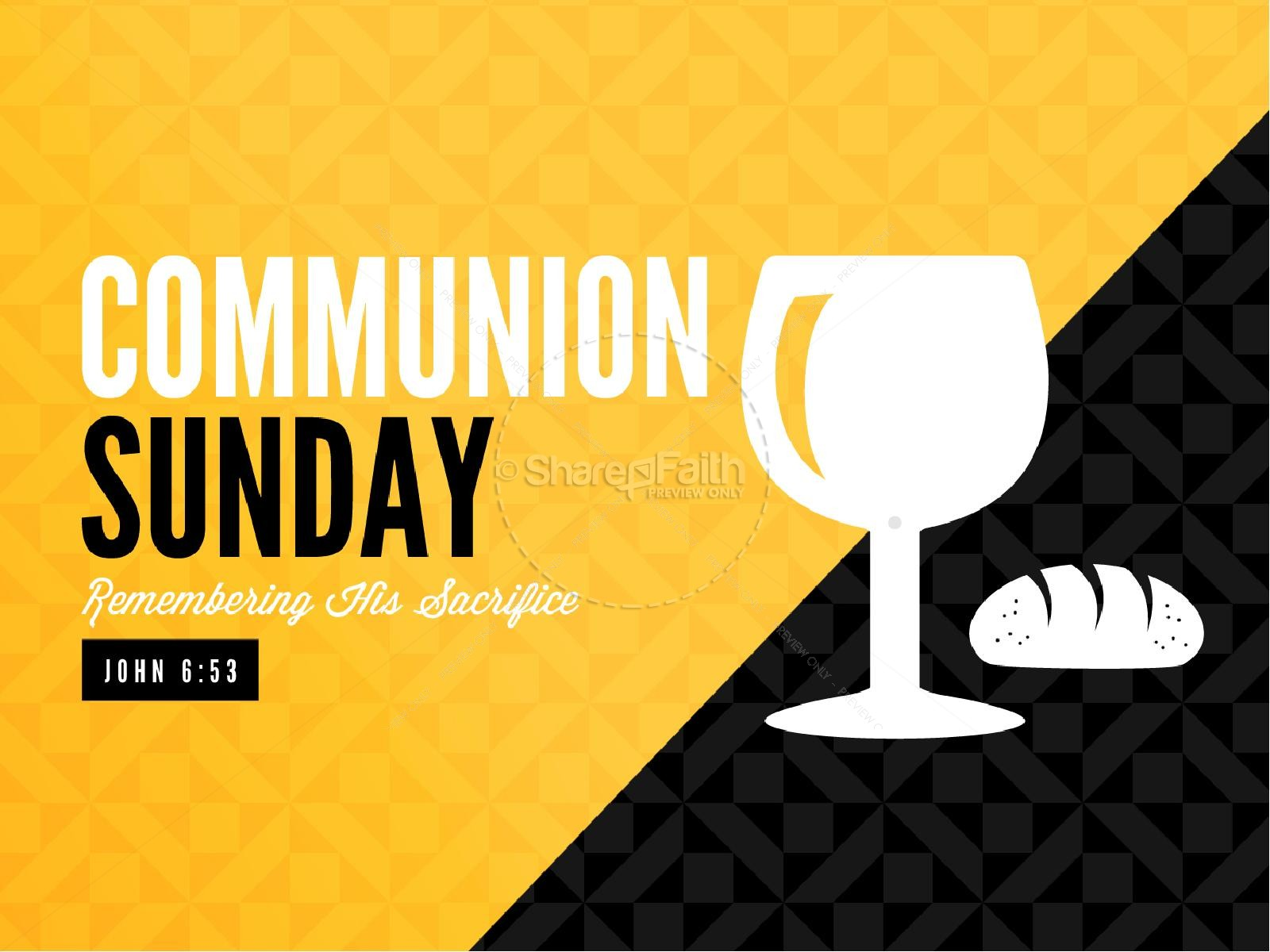 Communion Sunday Remember Ministry Powerpoint Powerpoint