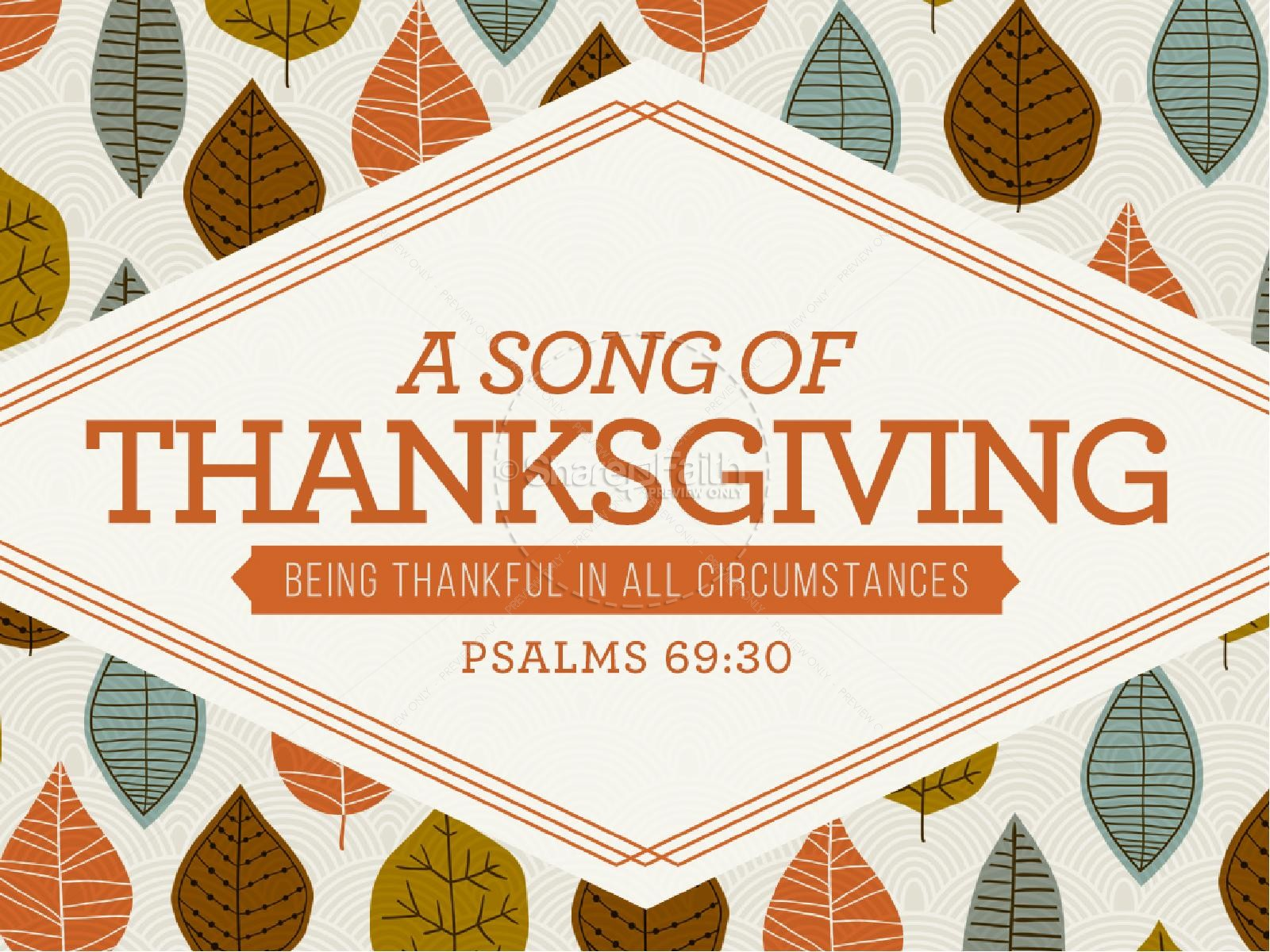 A Song of Thanksgiving Christian PowerPoint