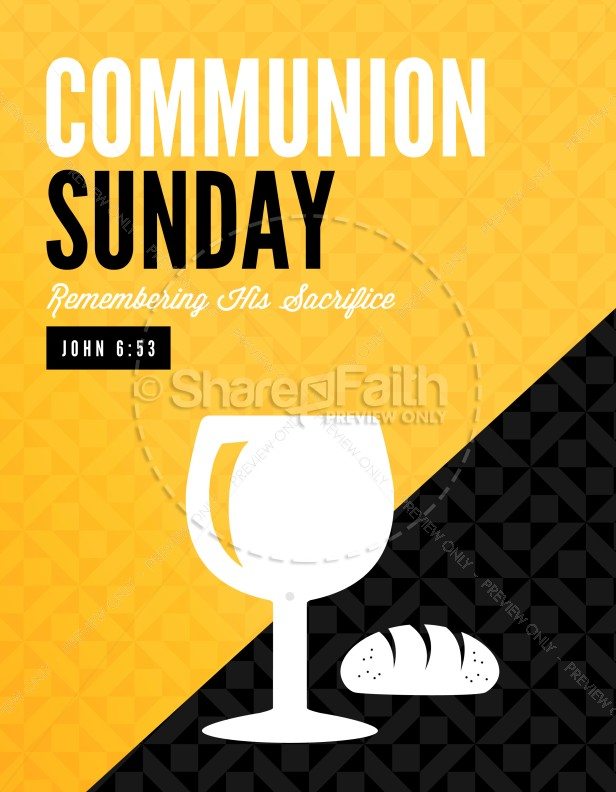 Communion Sunday Remember Ministry Flyer
