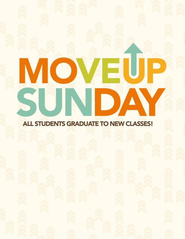 Move Up Sunday Church Flyer