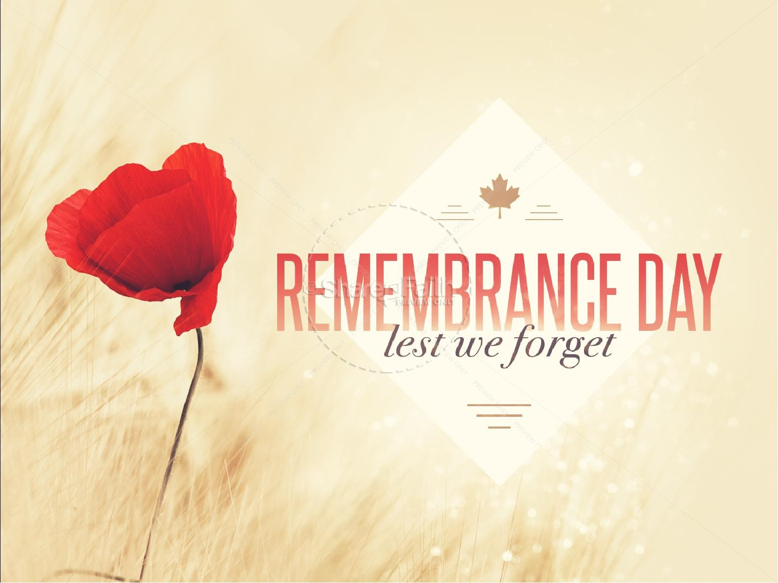 Remembrance Day Poppy Religious PowerPoint | slide 1