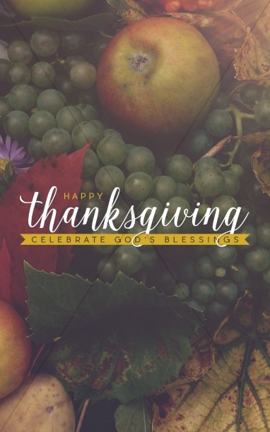 Thanksgiving Celebrate God's Blessing Religious Bulletin