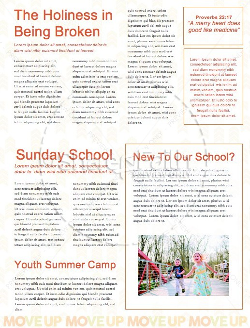 Move Up Sunday Church Newsletter