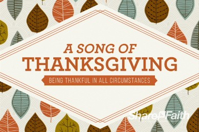 A Song of Thanksgiving Sermon Intro Video Loop