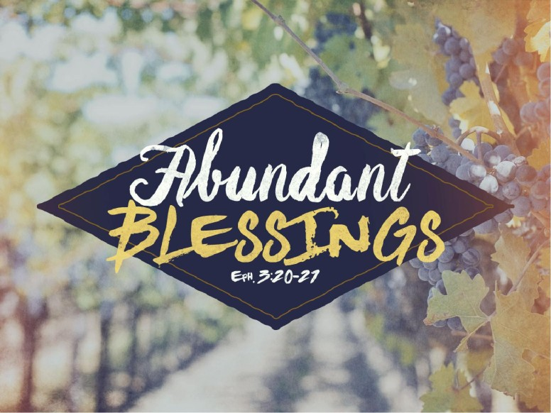 Abundant Blessings Religious PowerPoint