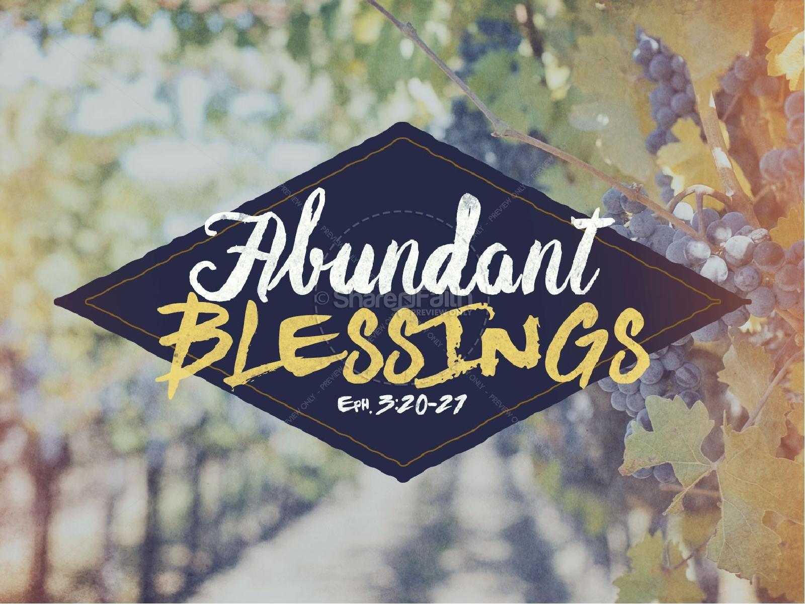 Abundant Blessings Religious PowerPoint | slide 1
