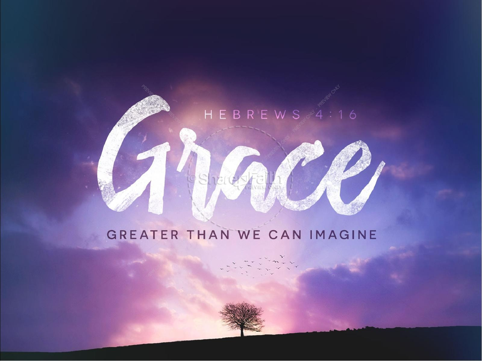 Grace Greater Than We Can Imagine Church PowerPoint