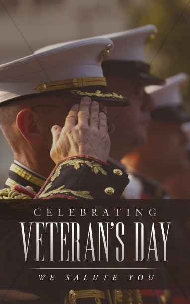 Celebrating Veterans Day We Salute You Church Bulletin