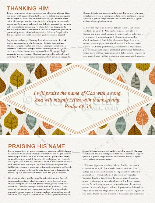 A Song of Thanksgiving Christian Newsletter