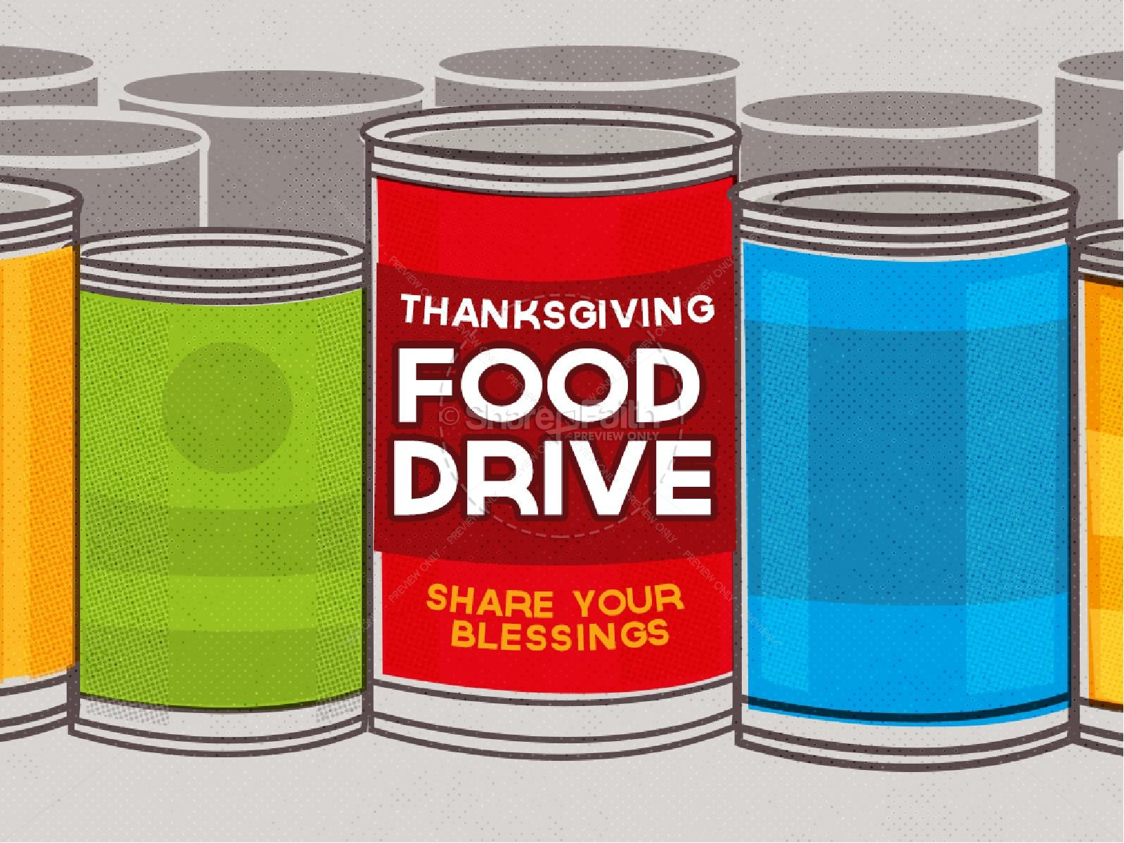 Thanksgiving Food Drive Religious PowerPoint