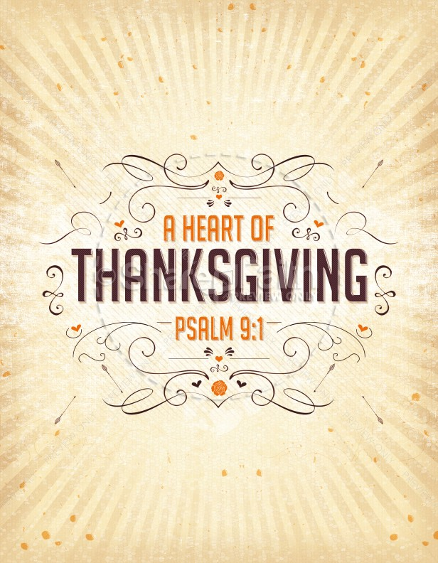 A Heart of Thanksgiving Ministry Flyer
