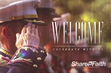 Veteran's Day Salute Religious Welcome Video