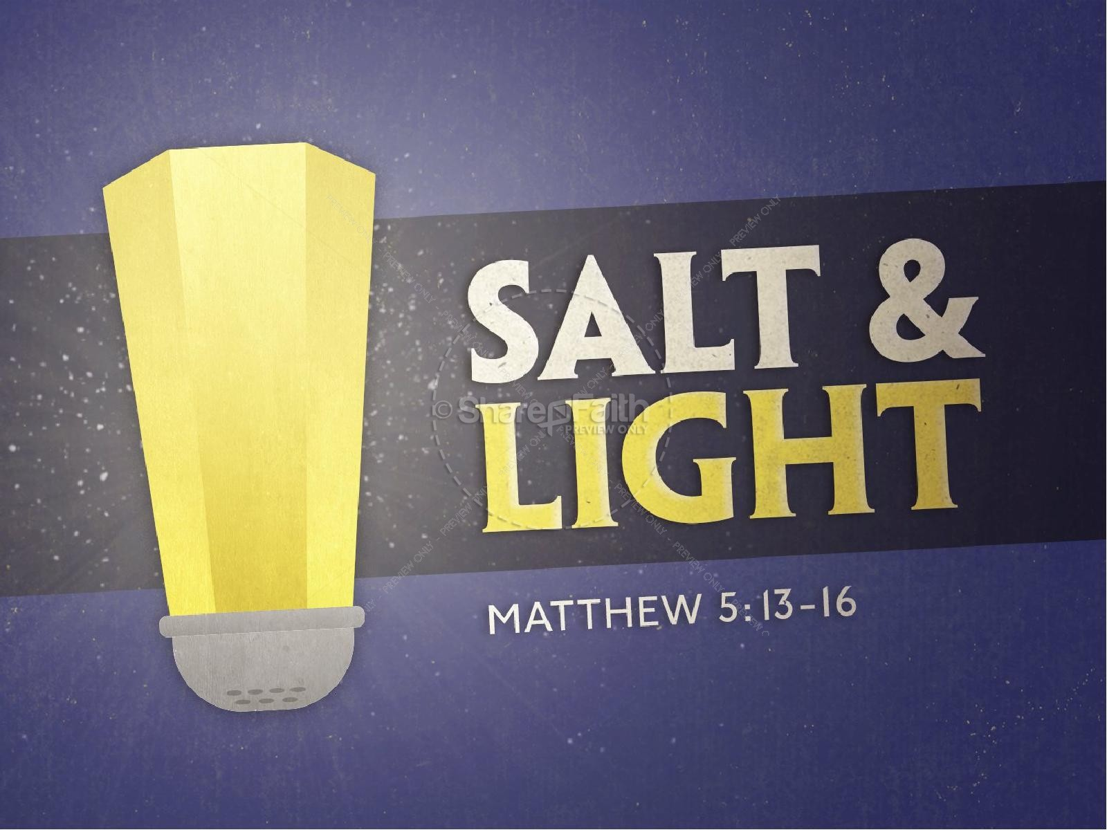 Salt and Light Religious PowerPoint