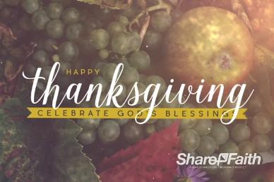 Happy Thanksgiving Fruit Bounty Thanksgiving Intro Video