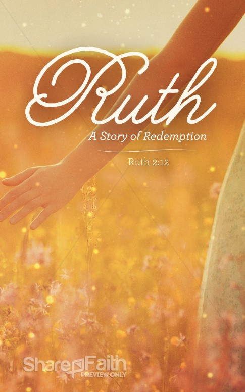 Ruth The Story of Redemption Church Bulletin Sermon