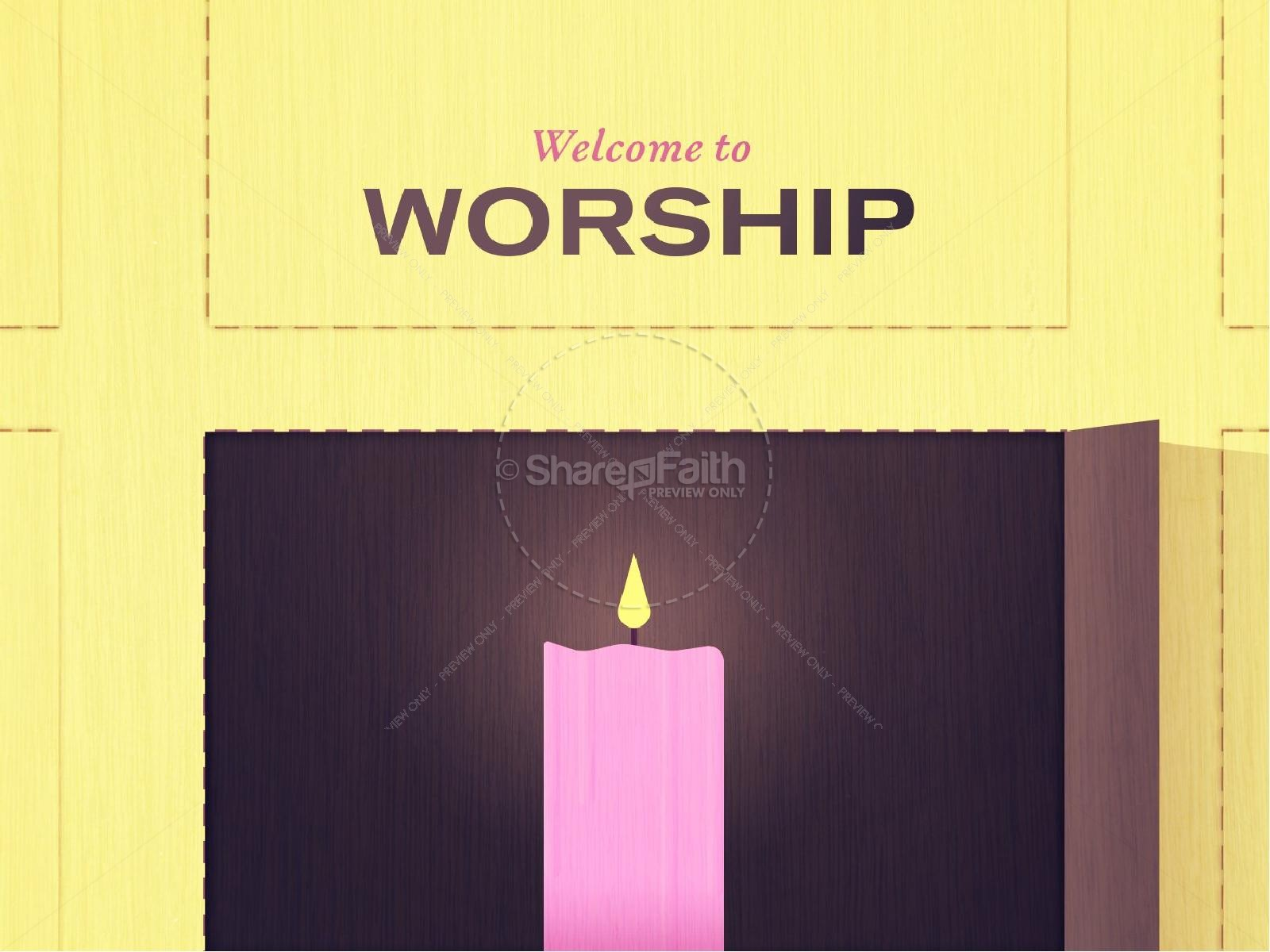 Advent Candle in Window Religious PowerPoint