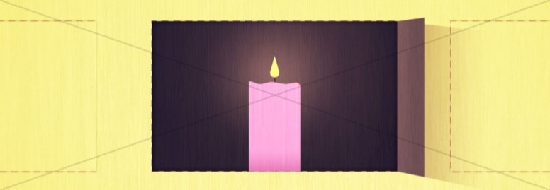 Advent Candle in Window Religious Website Banner