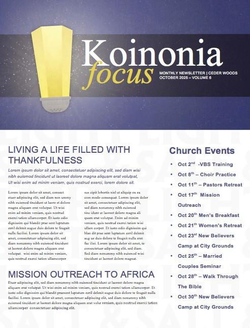 Salt and Light Religious Newsletter