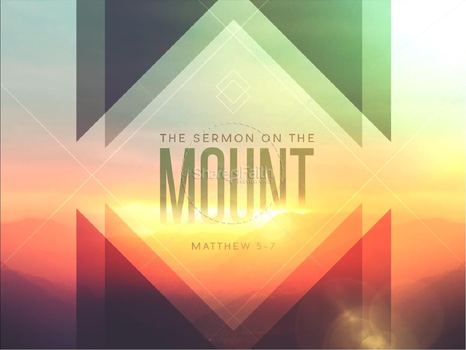 Sermon on the Mount Ministry PowerPoint