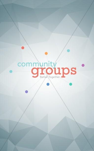 Community Groups Ministry Bulletin