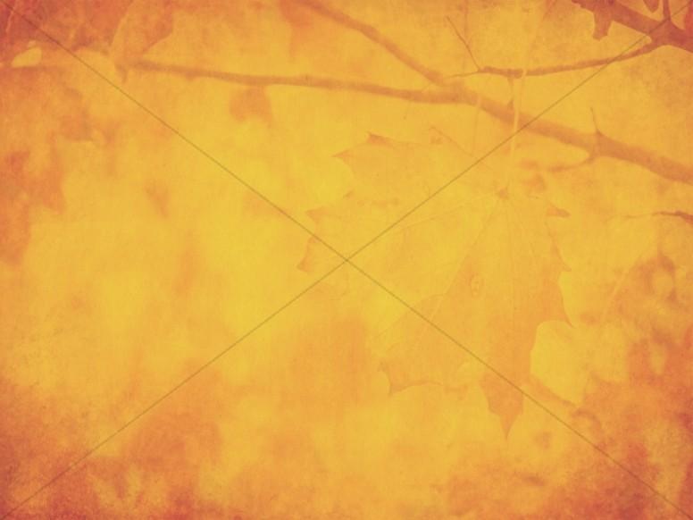 Orange Thanksgiving Fall Worship Background