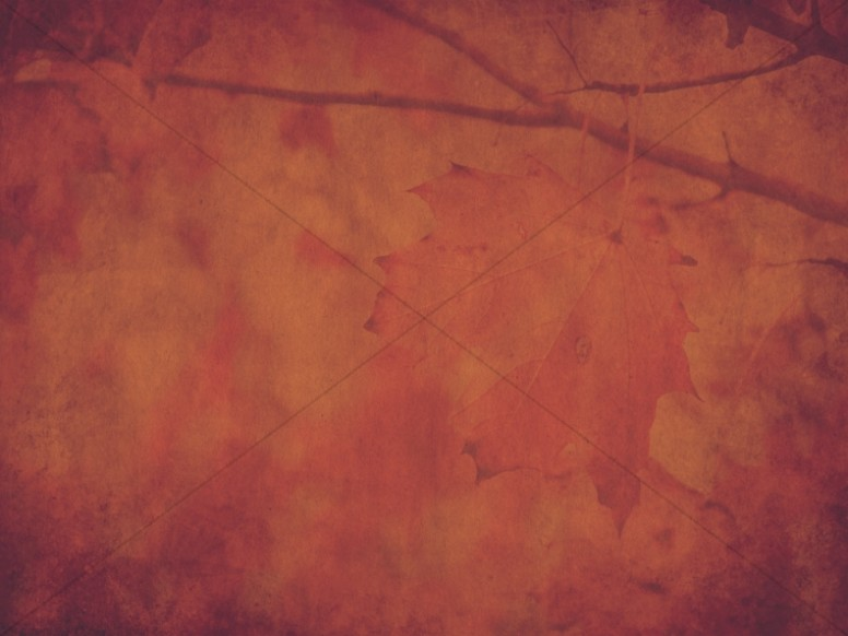 Red Thanksgiving Fall Worship Background