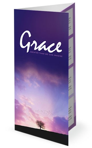 Grace Greater Than We Can Imagine Church Trifold Bulletin