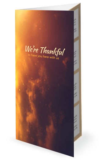 Thankful in All Things Religious Trifold Bulletin