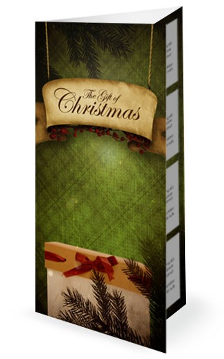 The Gift of Christmas Ministry Trifold Bulletin