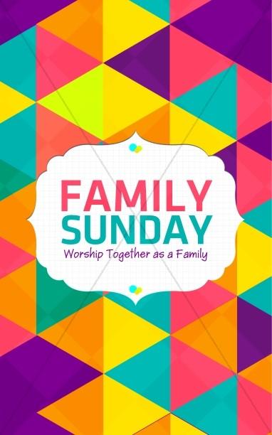 family sunday worship bulletin